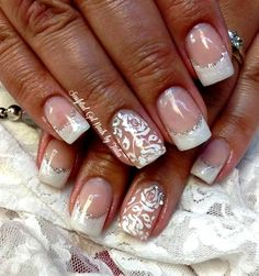 Bridal Nails by gelnailzbytalia - Nail Art Gallery nailartgallery.nailsmag.com by Nails Magazine www.nailsmag.com #nailart
