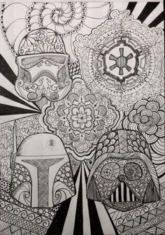 Star Wars Zentangle