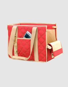 Quilted Pet Carrier $69.  Something for the girls next trip to the vet.