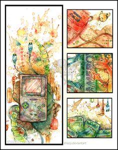 pokemon... Pokemon 20, Gameboy Pokemon, Nintendo, Art Competitions, Video Game Art, Video Games, Geek Art, Illustration, Vintage World Maps