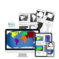 Teach your Kids the 7 Continents with 3-Part Cards We need you to get the Continents3-Part Cards Printable and for you to be able to do these 4 Continent Studies activities at home with your children. #montessoricontinentsprintables #freeprintablecontinents #7continentsfreeprintables #teachingcontinentstopreschoolers