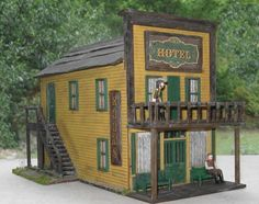 O Scale Model Train Building ~ The Dodge House from Gunsmoke
