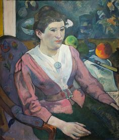 """""""Woman in Front of a Still Life by Cézanne"""" by Paul Gauguin   Flickr - Photo Sharing!"""