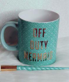 Off Duty Mermaid mug