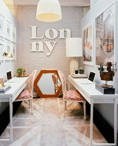 What a chic home office space
