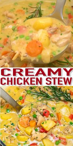 Chicken Stew is warm, hearty, and is the perfect dish to combat the winter or fall! food videos Chicken Stew Recipe - Sweet and Savory Meals Creamy Chicken Stew, Stew Chicken Recipe, Chicken Recipes, Chicken Meals, Best Chicken Stew, Recipe Stew, Stewed Chicken, Healthy Chicken, Top Recipes