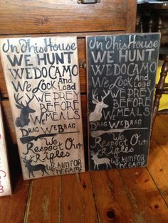Signs I painted!