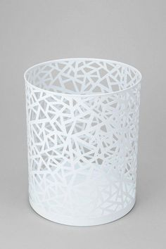 Geo Cutout Trash Can  #UrbanOutfitters    very cute and different trashcan !