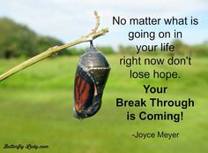 My breakthrough is coming too.