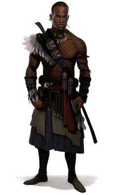 The shoulder piece interests me. I like the skirt layering, too. Jewelry's nice, also. A great reference image.  Mackandals Guard