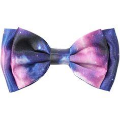 Galaxy Hair Bow | Hot Topic ($16) ❤ liked on Polyvore featuring accessories, hair accessories, bows, hair, hair stuff, hair bows and hair bow accessories