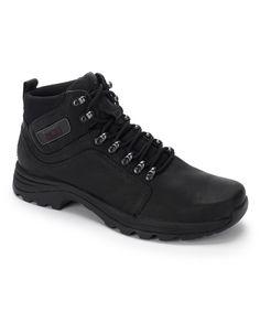 Black Elkhart Leather Boot - Men