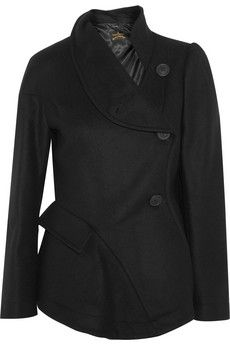 Vivienne Westwood Anglomania Storm flared wool-blend jacket | THE OUTNET