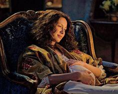 Caitriona Balfe as Claire Randall in Season Two of Outlander on Starz