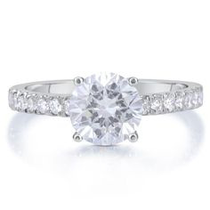 2.50 CT ROUND D/SI1 DIAMOND SOLITAIRE ENGAGEMENT RING 14K WHITE GOLD ENHANCED