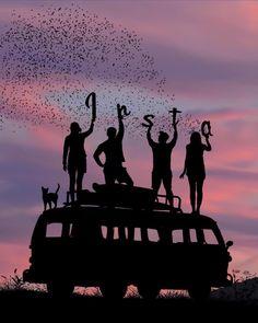 Volkswagen Bus, Amazing Photography, Nature Photography, Silhouette Photography, Silhouette Art, Epic Photos, Artwork Images, Best Friend Pictures, Couple Art