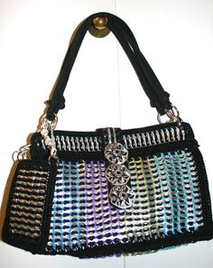 Leah Shoulder Crochet Purse Made from Pop Tabs by PopTopFashion