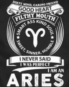 "#Aries. Hahaha I have this sweatshirt but it says ""dispatcher""."