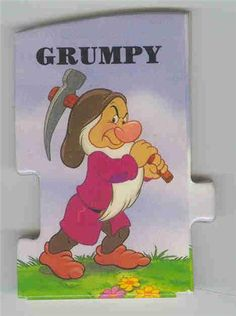 This adorable little book tells a mini story all about Grumpy it is really cute. It is really cute. Disney Cartoon Characters, Disney Cartoons, Fictional Characters, Disney Pics, Disney Pictures, Grumpy Dwarf, Snow White Dwarfs, New York Graffiti, Shopping Places