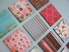 Just use fabric and hang!  Pretty & cheap!
