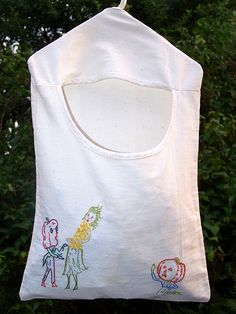 vegetable clothespin bag (with free pattern):