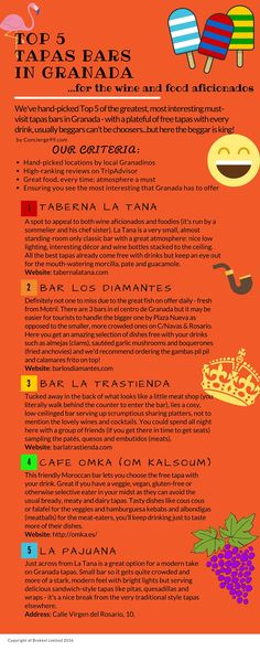 Top5 Best Tapas bars in Granada, Spain!  Where to go for delicious FREE tapas (well, included with your drink)