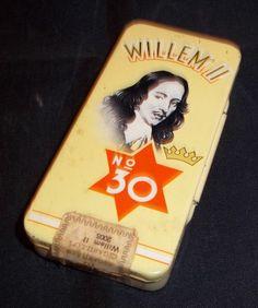 Vintage blikken doos Willem II boite en tôle tin box cigars cigares sigaren | eBay-Grandpa van der Velde.