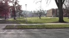 Lower campus at UWEC. To the right is Schofield and to the left is Centennial.