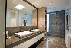 Bathroom with Chocolate Marble Tiles