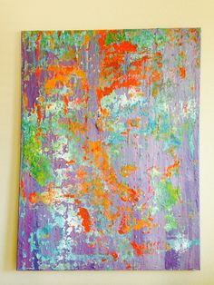 Large Original Acrylic on Canvas by AlongCameSplendor on Etsy