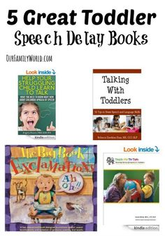 5 Great Toddler Speech Delay Books Looking for great books to help you overcome a toddler speech delay? Check out these five fantastic suggestions that will get your tot talking in no time!