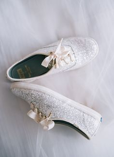 Sparkly glitter tennis shoes.  Keds for Kate Spade.  Photo by Jeremy Harwell.