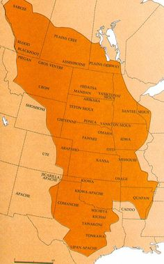 Great Plains Tribes Map Native American Wisdom, Native American Pictures, Native American Tribes, Native American History, Great Plains, Us History, First Nations, North America, Cherokee