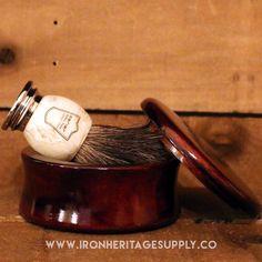 """Genuine Mango Wood Shave Soap Bowl"" by Parker"