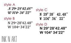 Bildergebnis für coordinate fonts