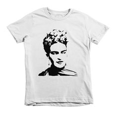 Frida Kahlo Girl T-shirt Girl Toddler T Shirt Girl Birthday / Frida Kahlo an inspiration to Monofaces. This unisex kids t-shirt features a unique Frida Kahlo print so your child wears a new t-shirt with the image of their favourite star or icon.  LISTING INCLUDES: - Rabbit Skins t-shirt with a Frida Kahlo print. Birthday Gifts For Girls, Girl First Birthday, Girls Tees, Shirts For Girls, Hipster Babies, Baby Kids Clothes, Kids Wear, Cute Gifts, Cute Babies