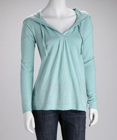 Take a look at this Eggshell Blue Organic Schaffer Hoodie by Aventura Clothing on #zulily today!