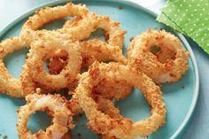 Elle ne nécessite aucune friture...La rondelle d'oignon au four! #rondelle #oignon #sans #friture #collation #salée