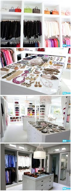 Lisa Vanderpump's Closet. I started getting into Vanderpump rules thanks to my dear friend. I stumbled upon this. I would love love love if I had a closet like this or if shed let me go back shopping in it some day. This woman inspires me.