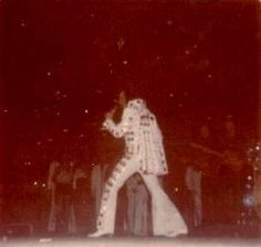 Elvis in concert at the Madison Square Garden in june 11 1972
