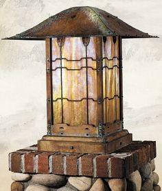 Exterior Lighting; like this on posts along the garden paths