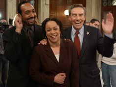 Law & Order - Jesse L. Martin, S Epatha Merkerson and Jerry Orbach