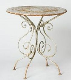 cute wrought iron side table