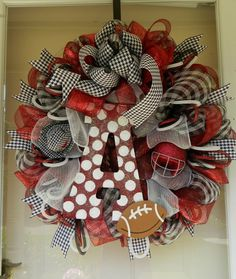 MADE TO ORDER (1 WEEK). Go BAMA!!! If you're an Alabama fan, then this wreath is a must have for your door decor this football season. The