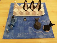 Water world-day 2018! Our homework in kindergarten! I mad with my 5 years old son!  Do it yorself from egg box!!!!! Primary tools: egg box, tempera, plasticine, brush, black marker!  Have a nice day with your child!
