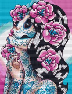 zombies cross stitch patterns free | Pin Modern Cross Stitch Kit By Heather Galler Mexican Geckorouge on ...