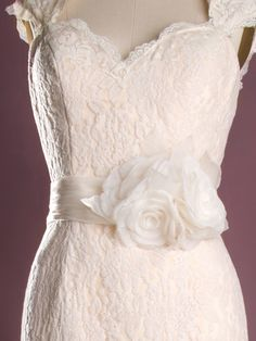 Floral detail on a vintage dress.