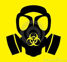 Bio hazard gas mask symbol