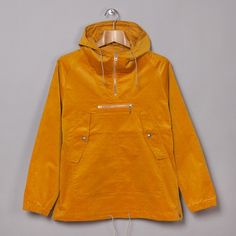Beams Plus Shirt Cord Anorak in Mustard