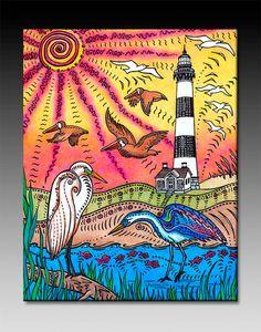 Bodie Island Ceramic Tile Wall Art by stephaniekiker on Etsy, $25.00